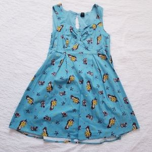 Disney Belle Fit & Flare Rockabilly Pin-Up Dress